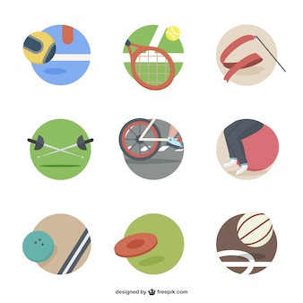 Elementy ikony sport