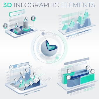 Elementy infografiki 3d