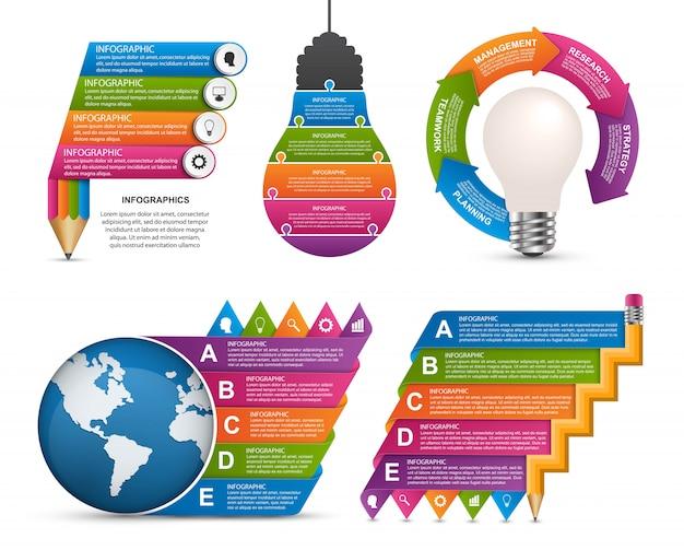 Elementy infografiki. elementy projektu wektor
