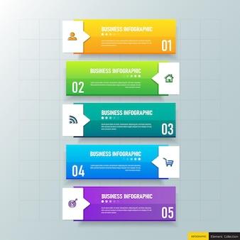 Elementy infografiki kolorowy biznes