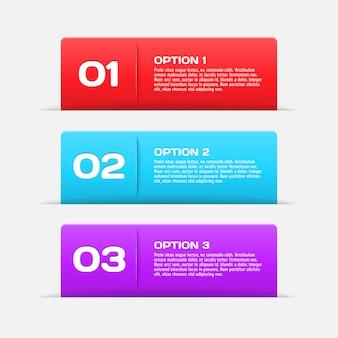 Elementy infographic banery sieci web