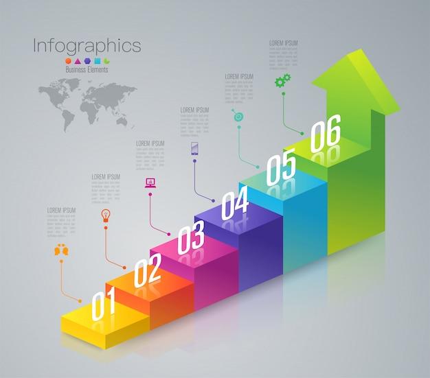 Elementy infographic biznesu