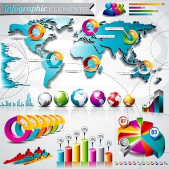 Elementy infographic kolekcja