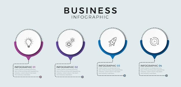 Elementy infographic. opcja numer pięć infografika