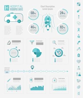 Elementy infographic opieki zdrowotnej.