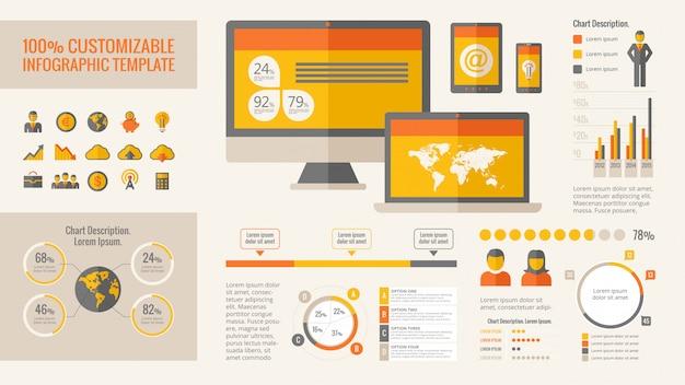 Elementy infographic technologii