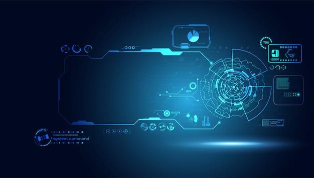 Elementy interfejsu z hologramem futurystyczny interfejs użytkownika