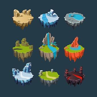 Elementy izometryczne wysp do gier