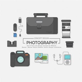 Elementy kolekcji fotografii