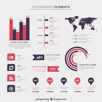Elementy kolekcji infographic