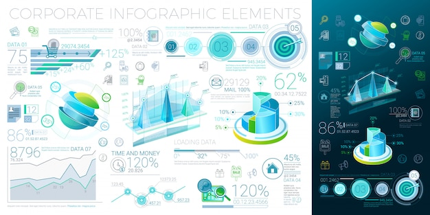 Elementy korporacyjne infografiki