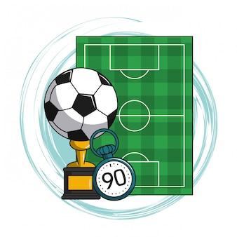 Elementy kreskówka piłka nożna