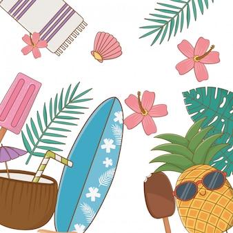 Elementy lata i wakacji