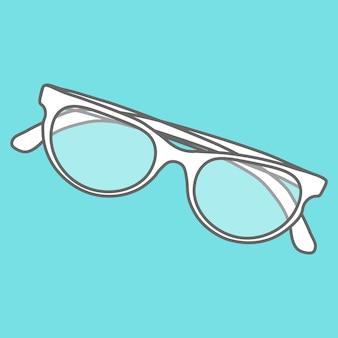 Elementy linii ikony płaska konstrukcja. nowoczesny wektor ilustracja piktogram okularów przeciwsłonecznych.