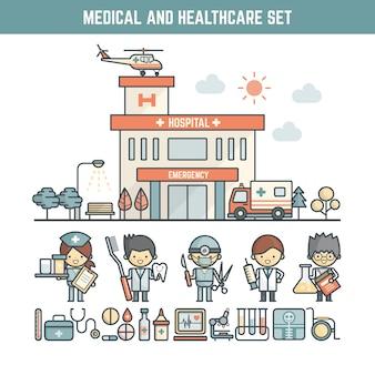 Elementy medyczne i opieki zdrowotnej