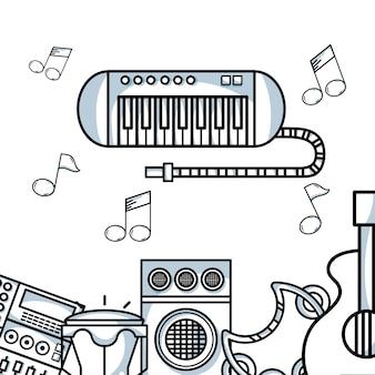 Elementy muzyczne do odtwarzania harmonii rytmicznej