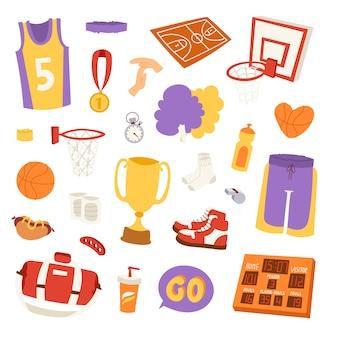 Elementy naklejki koszykówki