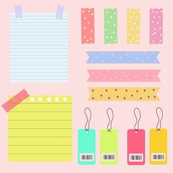 Elementy notatek papierowych
