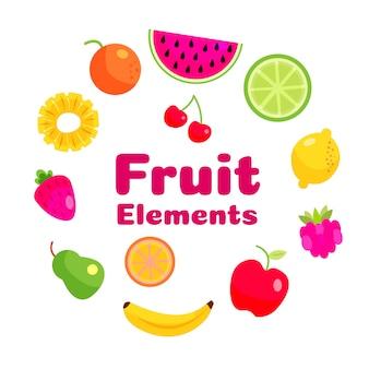 Elementy owocowe