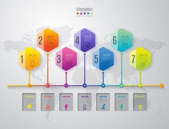 Elementy plansza na osi czasu prezentacji