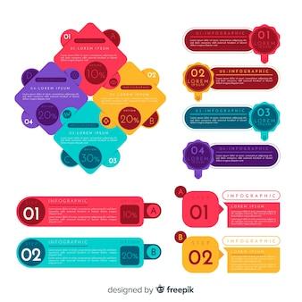 Elementy płaskie infographic