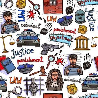 Elementy prawa szkic bezszwowe wzór