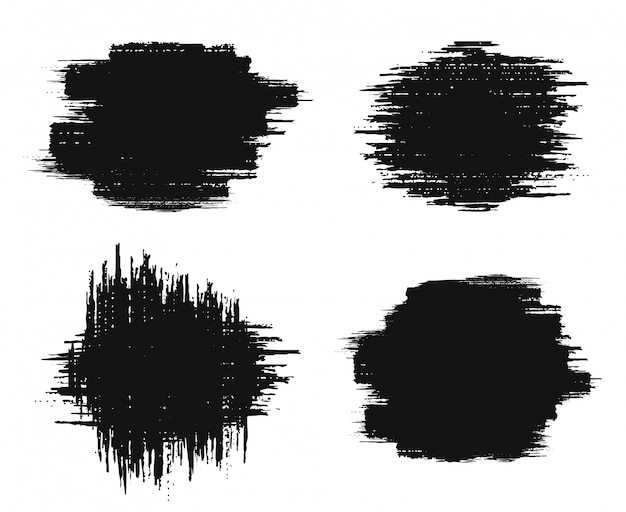 Elementy projektu grunge pędzel.