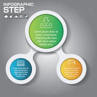 Elementy projektu infografika w 3 krokach