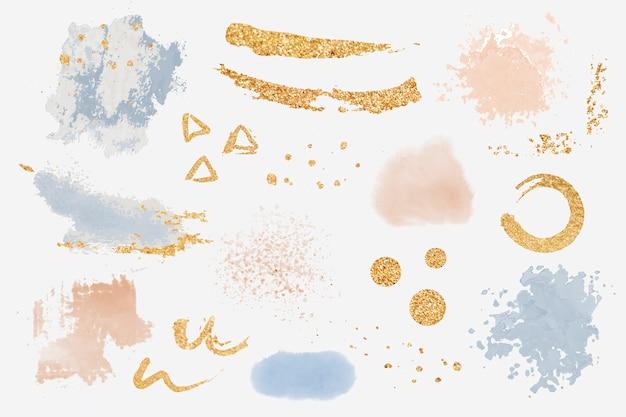 Elementy projektu splatter farby ustawić wektor