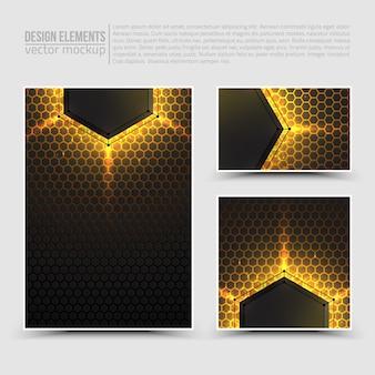 Elementy projektu: ulotka, karta, baner.