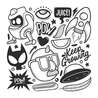 Elementy ręcznie rysowane doodle wektor