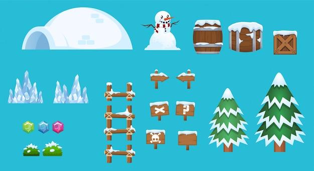Elementy śniegu