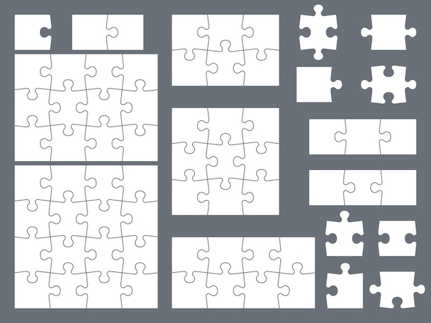 Elementy układanki do kreatywnej ilustracji gry