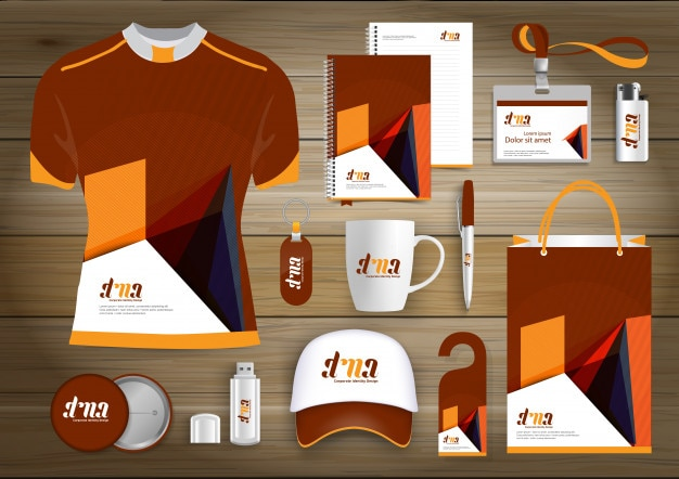 Elementy upominkowe sieciowe, kolorowe upominki reklamowe dla firm link z liniami technologicznymi. zestaw papeterii, cyfrowy szablon technologii mock up