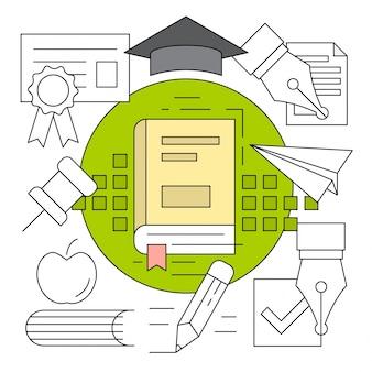 Elementy wektorowe edukacji liniowej