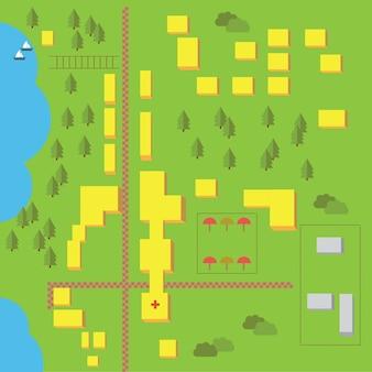 Elementy wektorowe ułatwiające tworzenie własnych map