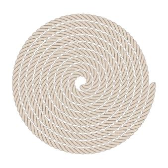 Elementy wystroju marynistycznego w postaci ramy linowej