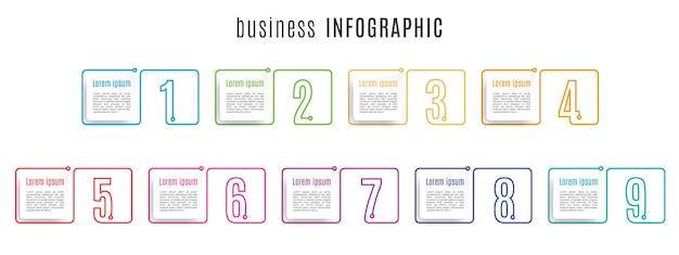 Elementy Zestaw Szablonów Infografika Numerów Premium Wektorów