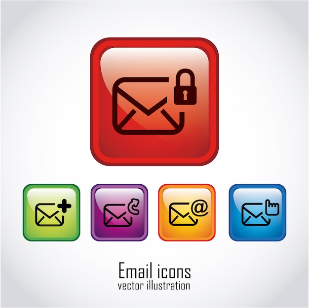 Email nad białą ilustracją