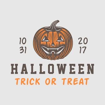 Emblemat logo halloween setor