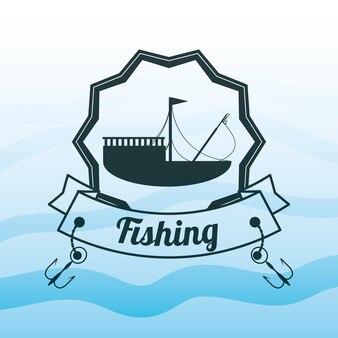 Emblemat związany z łodzią rybacką