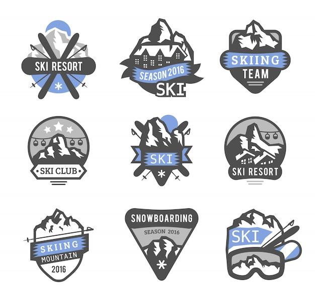 Emblematy logo ośrodka narciarskiego