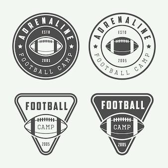 Emblematy lub odznaki futbolu amerykańskiego