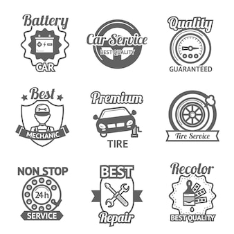 Emblematy obsługi samochodów