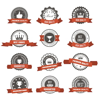 Emblematy, odznaki i znaczki z wstążkami