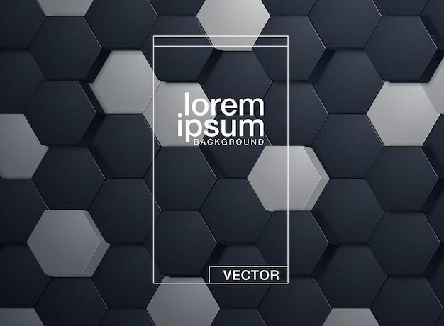 Embossed hexagon template