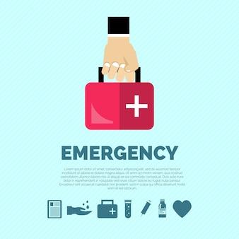 Emergency concept flat