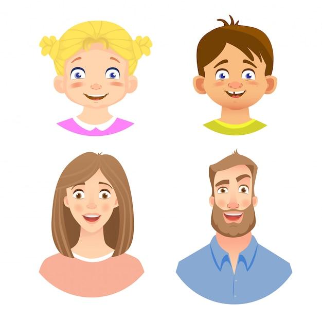 Emocje ludzkiej twarzy - zestaw