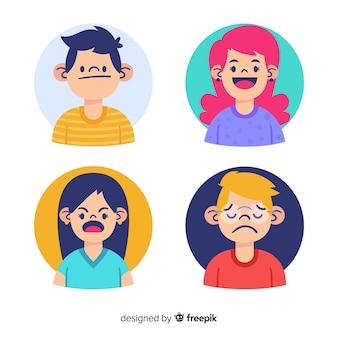 Emocje Młodych Ludzi Darmowych Wektorów