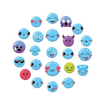 Emoji emtion expresion backgroun design